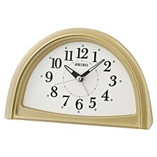 Seiko Analogue Beep Alarm Clock - Gold