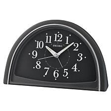 Seiko Analogue Beep Alarm Clock - Black