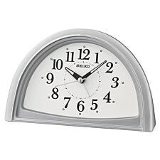 Seiko Analogue Beep Alarm Clock - Silver