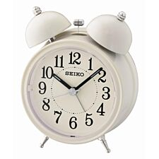 Seiko Bell Alarm Clock with Light and Snooze - Cream