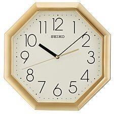 Seiko Octagon Wall Clock - Gold