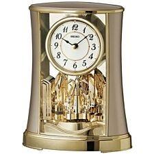 Seiko Rotating Pendulum Clock - Antique Gold
