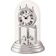 Seiko Anniversary Clock with Rotating Pendulum - Silver