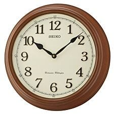 Seiko Westminster/Whittington Dual Chime Wall Clock - Brown