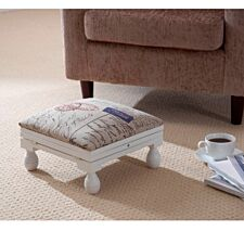 Gablemere 3 Position Footstool - White