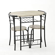 Gablemere Compact Dining Set - Wood/Black