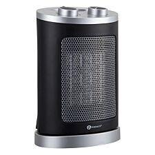 Puremate 1500w Mini Ceramic Fan Heater - Black/Silver