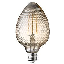 Wofi LED Lamp Bulb Amber Transparent E27 4W 300 Lumen 1800 Kelvin - 2 Pack