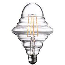 Wofi LED Lamp Bulb Transparent E27 4W 300 Lumen 1800 Kelvin 9760 - 2 Pack