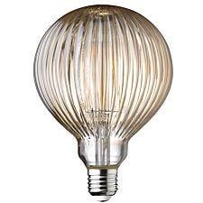 Wofi LED Lamp Bulb Amber Transparent E27 4W 300 Lumen 1800 Kelvin 9766 - 2 Pack