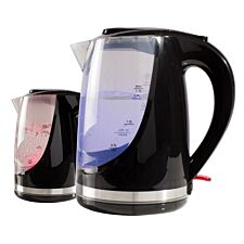 Daewoo SDA1666GE 1.7L Colour Changing Kettle - Black