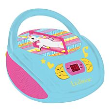 Lexibook Unicorn Boombox Radio CD Player