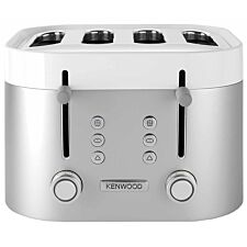 Kenwood TFM400TT K-Sense Four-Slice Toaster 2000W Stainless Steel - Silver/White