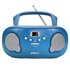 Groov-e Original Boombox Portable CD Player with Radio - Blue