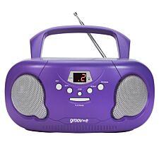 Groov-e Original Boombox Portable CD Player with Radio - Purple