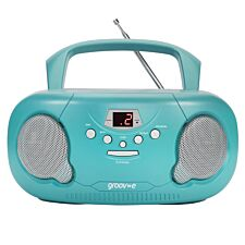 Groov-e Original Boombox Portable CD Player with Radio - Teal