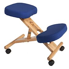 Teknik Wooden Kneeling Chair - Blue