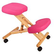 Teknik Wooden Kneeling Chair - Pink