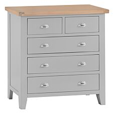 Madera 5 Drawer Chest of Drawers - Grey
