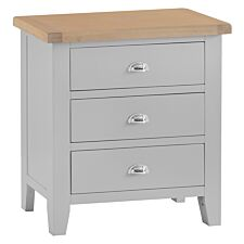 Madera 3 Drawer Chest of Drawers - Grey