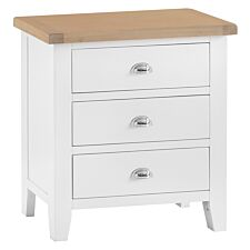 Madera 3 Drawer Chest of Drawers - White