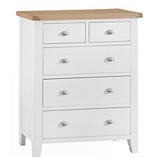 Madera 2 Over 3 Chest Of Drawers - White