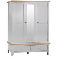 Madera 3 Door Wardrobe - Grey