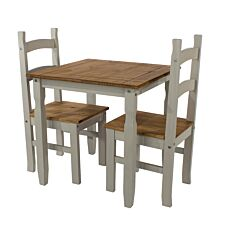 Halea Square Dining Table And 2 Chairs - Grey