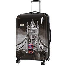 Rock 72cm Montana Expandable 8 Wheel Hard Shell Spinner Suitcase - Tower Bridge