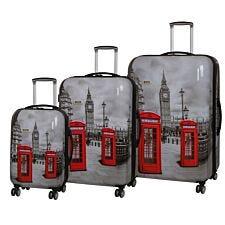 Rock Montana Expandable 8 Wheel Hard Shell Spinner Suitcase Big Ben (3pc set: 55/72/82cm)