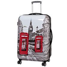 Rock 72cm Montana Expandable 8 Wheel Hard Shell Spinner Suitcase - London Sketch Print