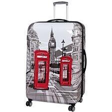 Rock 82cm Montana Expandable 8 Wheel Hard Shell Spinner Suitcase - London Sketch Print
