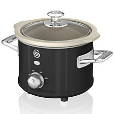 Swan SF17011BN 1.5L Retro Slow Cooker - Black