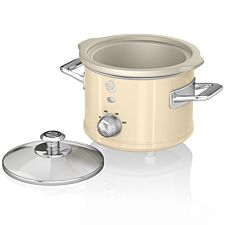 Swan SF17011CN 1.5L Retro Slow Cooker - Cream
