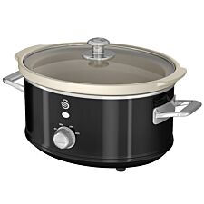 Swan SF17021BN 3.5L Retro Slow Cooker - Black