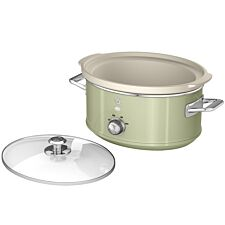 Swan SF17021GN 3.5L Retro Slow Cooker - Green