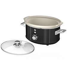 Swan SF17031BN 6.5L Slow Cooker Retro - Black