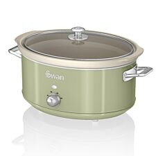 Swan SF17031GN 6.5L Retro Slow Cooker - Green