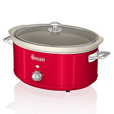 Swan SF17031GRN 6.5L Retro Slow Cooker - Red