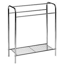 Premier Housewares Floor Standing Towel Stand - Chrome Plated Steel