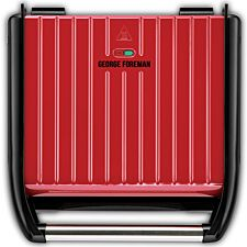George Foreman 25050 Entertaining 7 Portion Steel Grill - Red