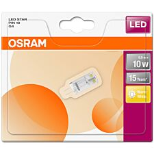 Osram 10W Clear Filament G4 Bulb - Warm White