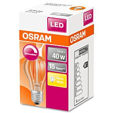 Osram Classic A 40W Clear Filament Dimmable ES Bulb - Warm White