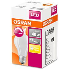 Osram Classic A 40W Frosted Filament Dimmable ES Bulb - Warm White