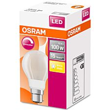 Osram Classic A 100W Frosted Filament Dimmable BC Bulb -  Warm White