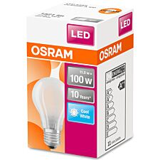 Osram Classic A 100W Frosted Filament ES Bulb- Cool White