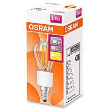 Osram Globe 60W Clear Glass Filament SES Bulb - Warm White