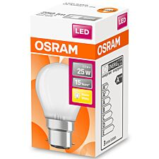 Osram Globe 25W Frosted Filament BC Bulb - Warm White