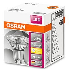 Osram LED 50W Full Glass GU10 Bulb - Warm White