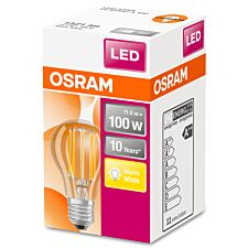 Osram Classic A 100W LED Filament Clear ES Bulb - Warm White